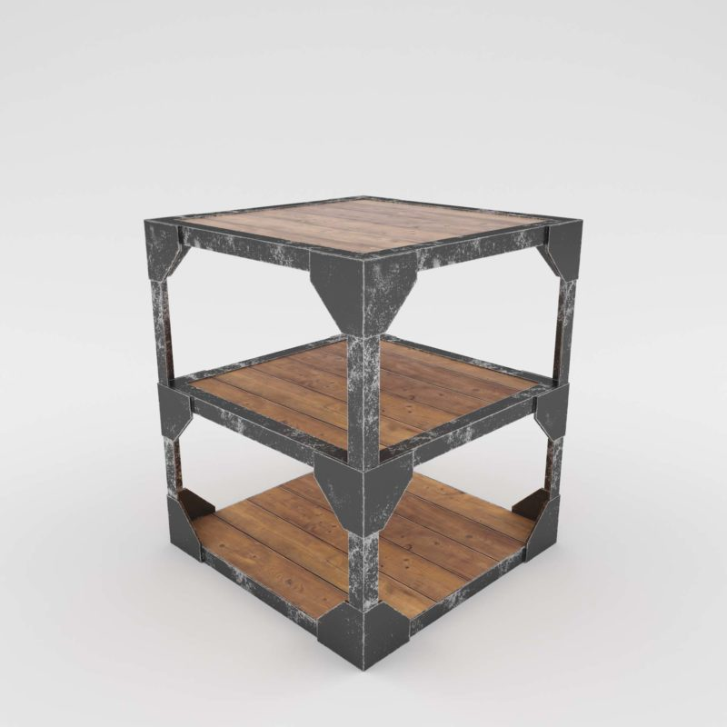 Rust Corner Table