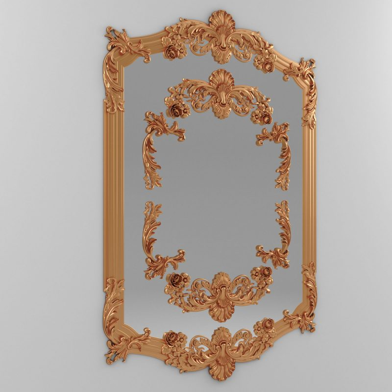 Mirror Classic Decoration 3d model
