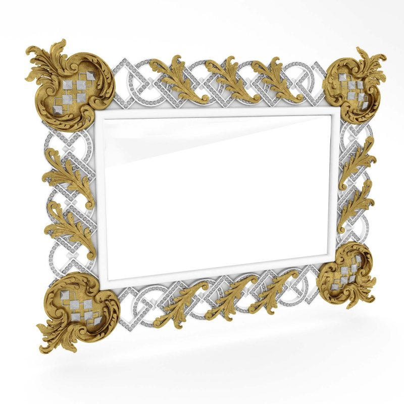 Classic Mirror Frame CNC File 3D