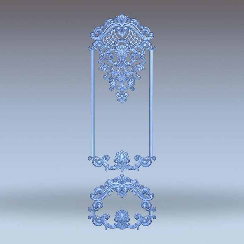 Door decor design full 3d CNC
